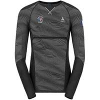 Licence ODLO ODLO T-SHIRT ML PERFORMANCE BLACKCOMB BLACK/GREY/SILVER 19 - Ekosport