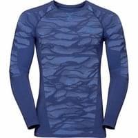 BU Textile  ODLO ODLO T-SHIRT ML BLACKCOMB ESTATE BLUE/DIRECTOIRE BLUE 20 - Ekosport