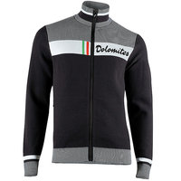 UYN MAN ATHLESYON DOLOMITES KNITTED 2ND LAYER FULL ZIP BLACK/BRILLIANT WHITE 21