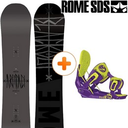 Pack Board+fix ROME ROME ARTIFACT 14 + FLOW THE FIVE TOXIC 14 - Ekosport