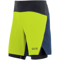 GORE GORE R7 2/1 SHORTS CITRUS GREEN DEEP WATER BLUE 19 - Ekosport