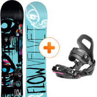 Pack Board+fix FLOW FLOW VELVET W 14 + NIDECKER GLAM W BLK 15 - Ekosport