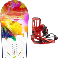 Pack Board+fix SALOMON SALOMON OFFICIAL 16 + SALOMON RHYTHM RED 16 - Ekosport