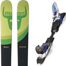 Pack ski+fix BLIZZARD BLIZZARD GUNSMOKE 16 + MARKER SCHIZO 11 WHITE/BLACK/BLUE 16 - Ekosport