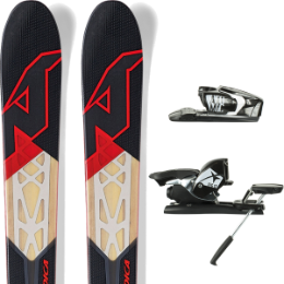 Pack ski+fix NORDICA NORDICA NRGY 100 16 + ATOMIC FFG 12 BLACK/WHITE 16 - Ekosport