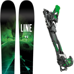 Pack ski+fix LINE LINE SUPERNATURAL 92 16 + TYROLIA ADRENALIN 13 BLK/GRN W/O BRAKE 16 - Ekosport