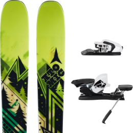 Pack ski+fix ATOMIC ATOMIC ACCESS 12 + ATOMIC FFG 10 B90 WHITE/BLACK 16 - Ekosport