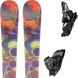 Pack ski+fix NORDICA NORDICA FIRST BELLE 13 + MARKER M 11.0 TC EPS 90MM BLACK/SILVER 17 - Ekosport