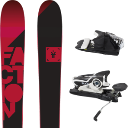 Pack ski+fix FACTION FACTION CANDIDE 1.0 17 + ROSSIGNOL AXIAL3 120 DUAL WTR B90 BLK/WHI 16 - Ekosport