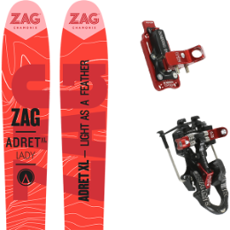 Pack ski+fix ZAG ZAG ADRET XL LADY 17 + ATK RAIDER 12 91MM 17 - Ekosport