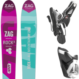 Pack ski+fix ZAG ZAG ROCK 2L 16 + LOOK SPX 12 DUAL WTR B90 BLACK WHITE 18 - Ekosport