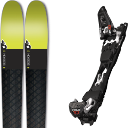 Pack ski+fix MOVEMENT MOVEMENT SESSION 5 AXES CARBON 18 + MARKER TOUR F10 BLACK/WHITE 18 - Ekosport