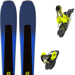 Modèle SALOMON SALOMON XDR 80 TI BLACK/BLUE/LIME 18 + SALOMON WARDEN 11 N L90 YELLOW/BLACK 18 - Ekosport