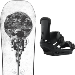 Pack Board+fix BURTON BURTON PROCESS OFF AXIS 18 + BURTON CUSTOM BLACK MATTE 19 - Ekosport