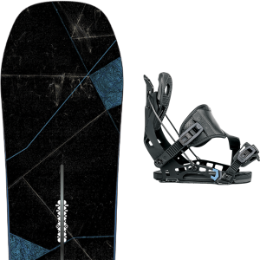 Pack Board+fix BURTON BURTON CUSTOM X 18 + FLOW NX2 HYBRID BLACK 18 - Ekosport