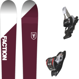 Pack ski+fix FACTION FACTION CANDIDE 3.0 18 + MARKER 11.0 TP 110MM BLACK 18 - Ekosport