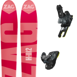 Pack ski+fix ZAG ZAG H112 19 + SALOMON WARDEN MNC 13 N BLACK/GREY 19 - Ekosport