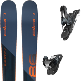 Pack ski+fix ELAN ELAN RIPSTICK 86 19 + SALOMON WARDEN 11 N L90 DARK GREY/BLACK 19 - Ekosport