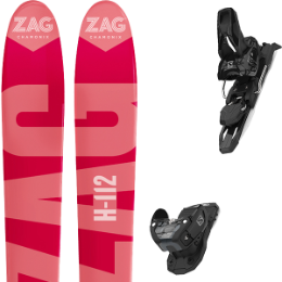 Pack ski+fix ZAG ZAG H112 19 + SALOMON WARDEN MNC 11 BLACK L115 20 - Ekosport