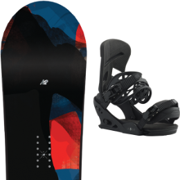 Pack Board+fix K2 K2 RAYGUN WIDE FLAT / ROCKER 19 + BURTON MISSION BLACKISH 19 - Ekosport