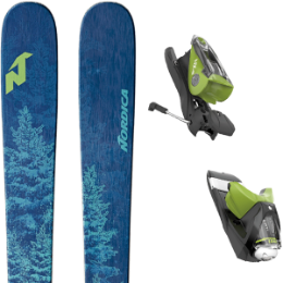 Pack ski+fix NORDICA NORDICA SANTA ANA 93 BLUE 19 + LOOK NX 12 DUAL WTR B90 BLACK/GREEN 17 - Ekosport