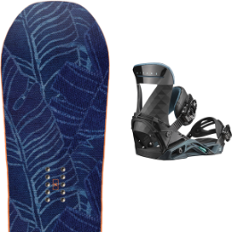 Pack Board+fix YES YES WM'S EMOTICON :-) 19 + SALOMON MIRAGE BLACK / TEAL 19 - Ekosport