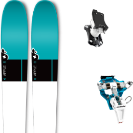 Pack ski+fix MOVEMENT MOVEMENT APPLE 80 W 20 + DYNAFIT SPEED TURN 2.0 BLUE/BLACK 20 - Ekosport