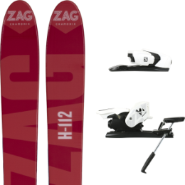 Pack ski+fix ZAG ZAG H112 19 + SALOMON Z12 B90 WHITE/BLACK 19 - Ekosport