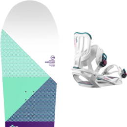 Pack Board+fix NIDECKER NIDECKER ELLE WMS 18 + SALOMON SPELL WHITE 19 - Ekosport