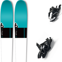 Pack ski+fix MOVEMENT MOVEMENT APPLE 80 W 20 + MARKER ALPINIST 12 LONG TRAVEL 90MM BLACK/TITANIUM 20 - Ekosport