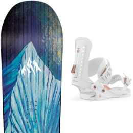 BU SKI JONES JONES WM'S AIRHEART 20 + UNION WOS TRILOGY WHITE 20 - Ekosport