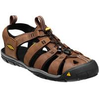 KEEN CLEARWATER CNX LEATHER DARK EARTH/BLAC 19