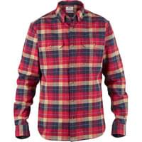FJÄLLRÄVEN SINGI HEAVY FLANNEL SHIRT DEEP RED 21