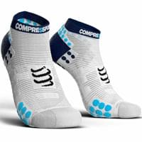COMPRESSPORT PRORACING SOCKS V3.0 RUN LOW WHITE/BLUE 19