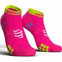 COMPRESSPORT PRORACING SOCKS V3.0 RUN LOW FLUO PINK 19