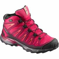 SALOMON X-ULTRA MID GTX JR VIRTUAL PINK/BEET RED/LIVING CORAL 18