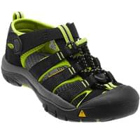 KEEN NEWPORT H2 CHILD BLACK/LIME GREEN 20
