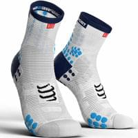 COMPRESSPORT PRORACING SOCKS V3.0 RUN HIGH WHITE/BLUE 19