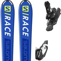 SALOMON S/RACE JR M + L7 BLACK/WHITE B80 19