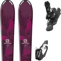 SALOMON E QST LUX JR M + L7 BLACK/WHITE B80 19