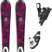 SALOMON QST LUX JR S + C5 BLACK/WHITE J75 19