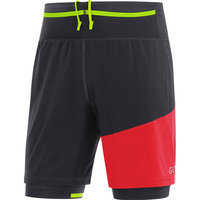 GORE R7 SHORT 2IN1 BLACK/RED 18