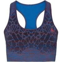 ODLO BRASSIERE BLACKCOMB SEAMLESS MED ENERGY BLUE/FIERY RED 18
