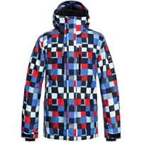 QUIKSILVER MISSION PRINTED JK DRESS BLUE CHECK ATOMIC 19