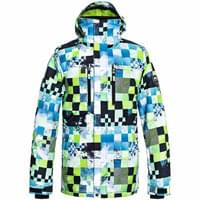 QUIKSILVER MISSION PRINTED JK LIME GREEN MONEY TIME 19