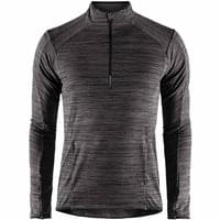 CRAFT GRID DEMI-ZIP NOIR CHINE 19