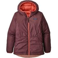 PATAGONIA GIRLS' REVERSIBLE DOWN SWEATER HOODY SPICED CORAL 19