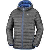 Licence COLUMBIA COLUMBIA LAKE 22 DOWN HOODED JACKET CHARCOAL HEATHER PRINT, AZURE BLUE 19 - Ekosport