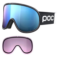 Masques POC POC RETINA BIG CLARITY COMP URANIUM BLACK/SPEKTRIS BLUE 21 - Ekosport