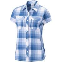 COLUMBIA CAMP HENRY SS SHIRT HARBOR BLUE BLO 18